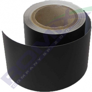 Czarna folia gofrowana – szerokość 16,5cm, długość – 25 metrów