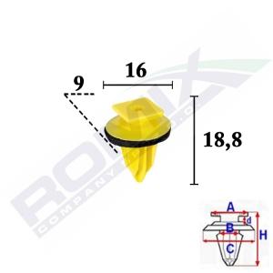 spinka listwy C70523