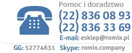 Tel. (22) 836 08 93, (22) 836 33 69, skype: romix
